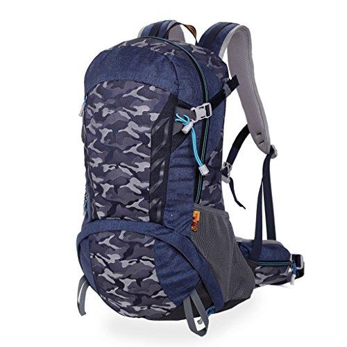 AMOS Borsa da viaggio alpinismo borsa da viaggio all'aperto multifunzionale 30L ( Colore : Grigio ) Blu zaffiro