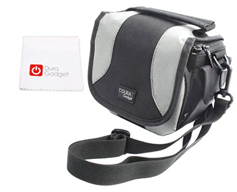 DuraGadget Schutzhülle mit bequemen Schultergurt, Tragegriff und Mikrofaser Reinigungstuch für Steiner Safari Fernglas UltraSharp