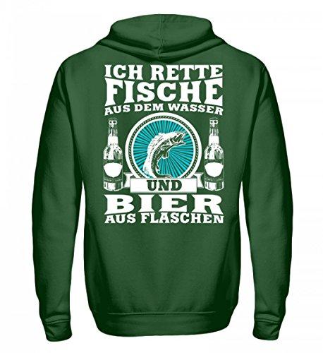 Hochwertiger Unisex Kapuzenpullover Hoodie - Fischer Shirt · Angeln · Lustiges Geschenk für Angler · Motiv: Ich rette Fische aus Wasser