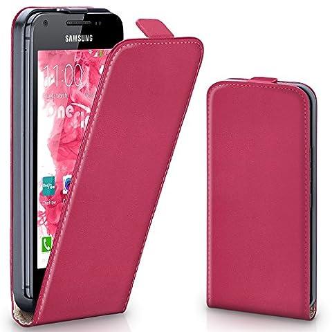 Pochette OneFlow pour Samsung Galaxy Ace housse Cover magnétique   Flip Case étui housse téléphone portable à rabat   Pochette téléphone portable téléphone portable protection bumper housse de protection avec coque en BERRY-FUCHSIA