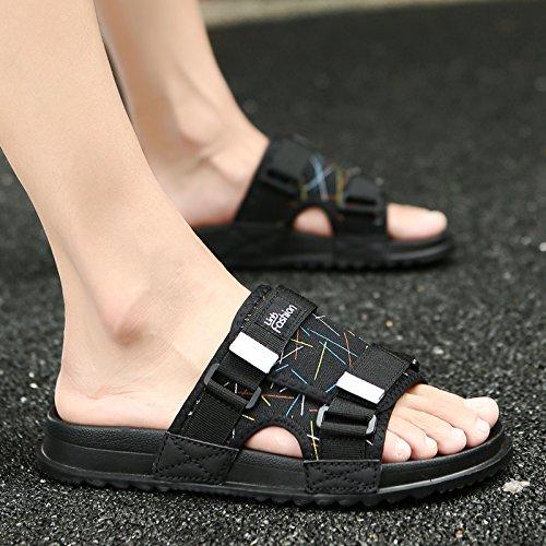 Les Loisirs Tide, Été Traînée, Sandales, Pantoufles, Les Chaussures De Plage Antidérapant Black color