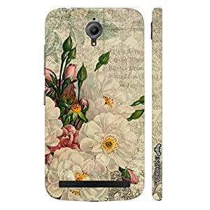 Asus Zenfone Go WHITE FLOWER TOUCH designer mobile hard shell case by Enthopia