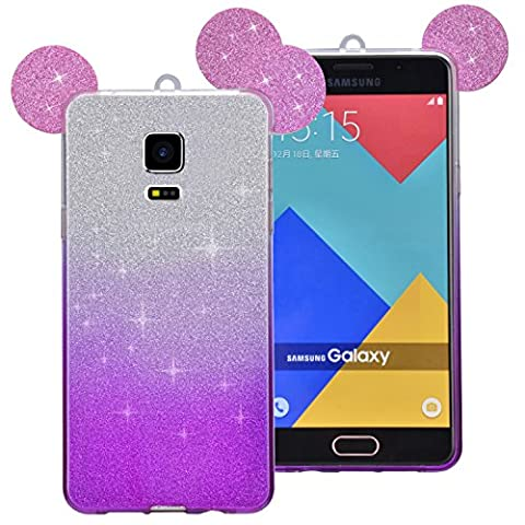 Coque Samsung Galaxy S5 / S5 Neo, Sunroyal® Bling Silicone Souple Case de Protection Adorable Oreille Back Cover TPU Housse Etui Shock Absorption Bumper Shell Skin pour Samsung Galaxy S5 I9600 / S5 Neo -