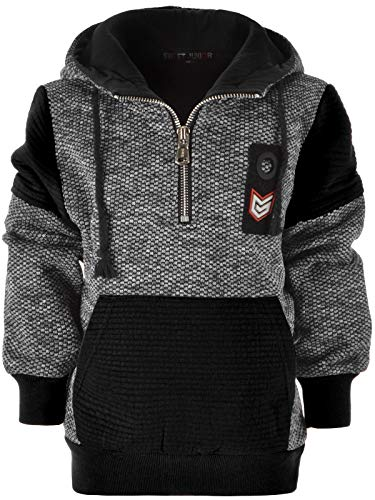 BEZLIT Kinder Jungen Hoodie Kapuzen-Pullover Sweat-Shirt Sweat-Jacke 22881 Grau 128