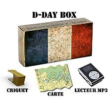D-Day Box Audioguide plages du Débarquement (Utah, Omaha, Gold, Juno, Sword) - inclus : 3h audio + mp3 + eBook + criquet + carte (modèle drapeau FR)
