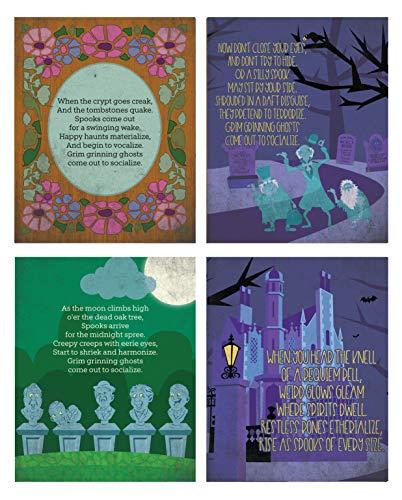 Silly Goose Gifts Haunted Mansion Halloween-Wanddekoration, 20 x 25 cm, 4 Stück
