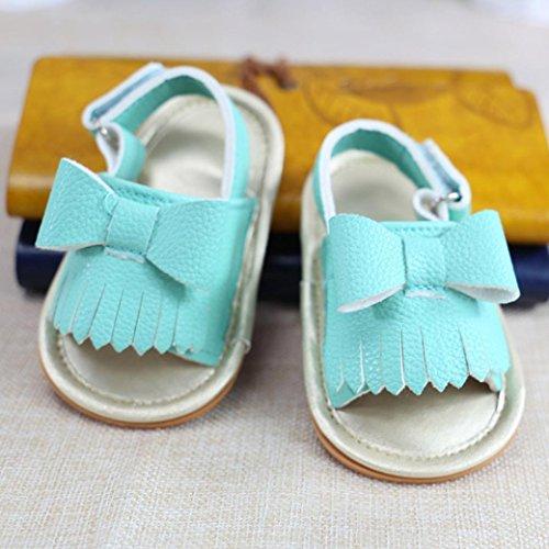 Clode® Baby girl gland bowknot sandales Chaussures (12 ~18 Mois, Blanc) Bleu
