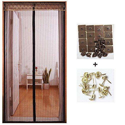 Love Home Im Sommer, wenn die Tür Fliegengitter für Fenster schlafzimmer - vorhang salmonellen wohnzimmer Automatisch abgeschaltet-C-110x230cm(43x91inch)