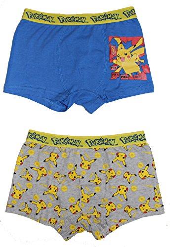 Pokemon -  Boxer  - ragazzo Blau /Grau 104 cm/110 cm