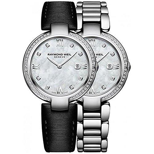 Raymond Weil Shine Ladies Quartz watch, 57 Diamonds, White, 32 mm, Day