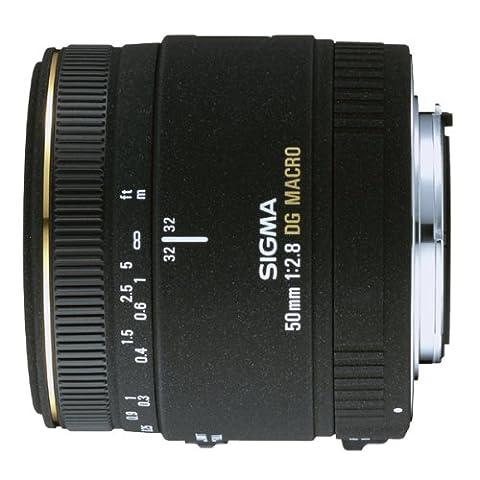 Sigma 50 mm F2,8 EX DG Makro-Objektiv (55 mm Filtergewinde) für Nikon D Objektivbajonett