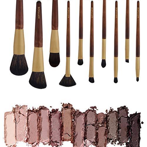 Cutelove Professional Make Up Brushes Set 10Pcs Kit