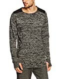Hope n life Hyperion, Pull Homme, Gris, Small (Taille Fabricant: S)