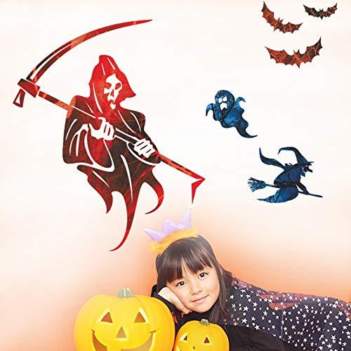 Halloween-Deko Fantasma Bruja Murciélago Schwarzes Pegatinas Calcomanías Niños Pared von Dormitorio Almacén Frigorífico Ventana Decoración ()