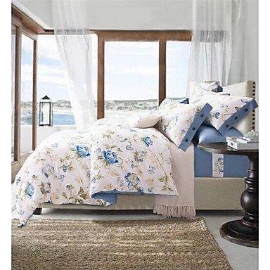 AIURLIFE Paquetes de ropa de cama impresión activo cuatro Sarga King/Queen size , king
