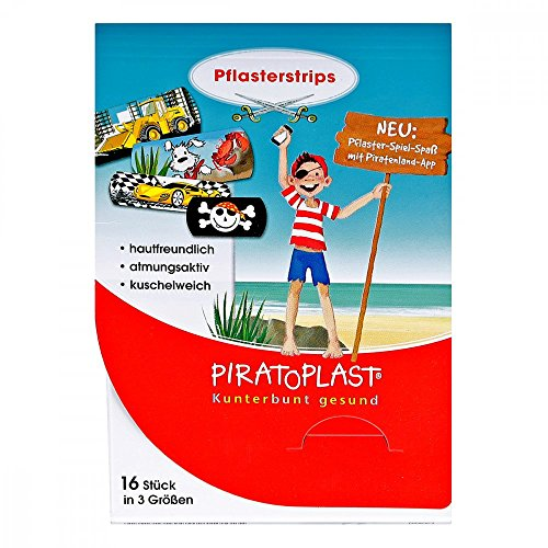 (Piratoplast Jungen Pflasterstrips 3 Grössen 16 stk)