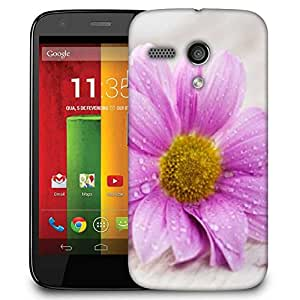 Snoogg Simple Flower Designer Protective Phone Back Case Cover For Motorola G / Moto G
