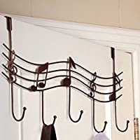Topker Home Bathroom Kitchen Coat/Hat/Bag Metal Music Style Hook Hanger Organizer Iron Bronze
