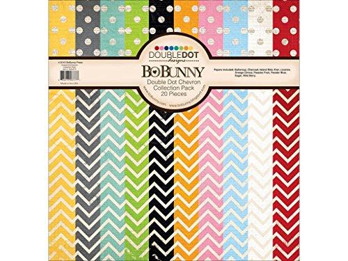 BoBunny 10316777Double Dot tonkartons Collection Pack, mehrfarbig, 12x 12Zoll