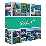 Leuchtturm 347771 Sammel-Album Postcards für 600 Postkarten, Postkarten-Sammel-Album mit 50 festeingebundenen Hüllen