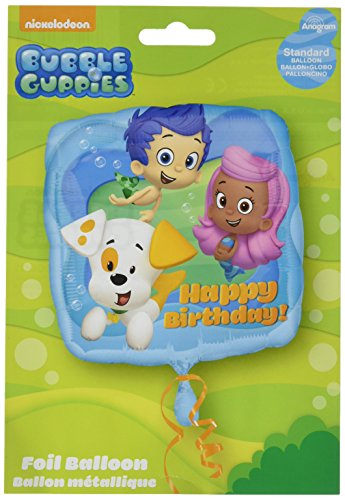 Amscan Standard C, Motiv Bubble Guppies Cartoon Happy Birthday Luftballon