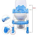 VANKER Bebé plegable Orinal Silla infantil del asiento de tocador de seguridad antideslizante Escalera -- Azul