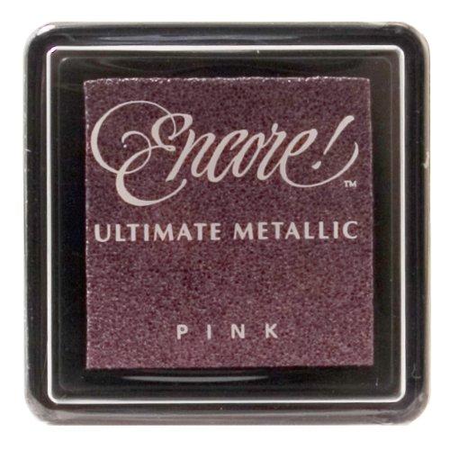 Ultimate Metallic, Kleine Stempelkissen, Tsukineko-Tinte, Pink Metallic -