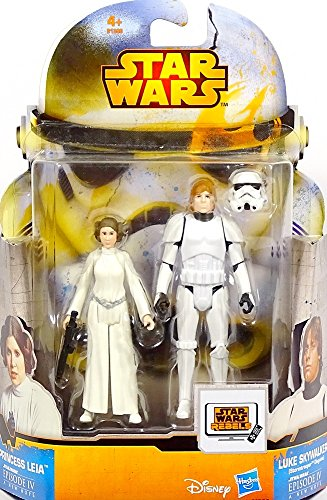 Princess Leia & Luke Skywalker Stormtrooper Episode IV Mission Series MS20 Star Wars Rebels - Saga Legends 2015 von Hasbro / Disney