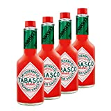 4x 350 ml TABASCO Original Red Pepper Sauce - Vorteilspack