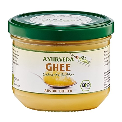 100ProBio Ayurveda Bio Ghee - geklärte Butter- Butterschmalz, 1er Pack (1 x 0.18 l)