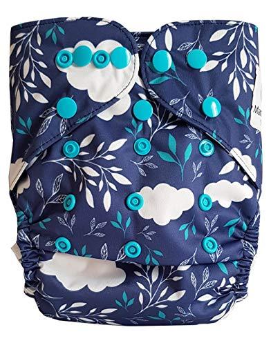 Maman et bb Nature - Couche Lavable tout en deux TE2 double goussets - Blue Clouds