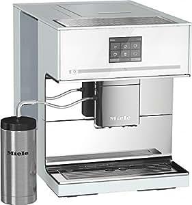 Miele CM7500 Stand-Kaffeevollautomat / Brilliantweiß / Automatische Entkalkung, Kaffee und Tee, OneTouch- und OneTouch for Two-Zubereitung