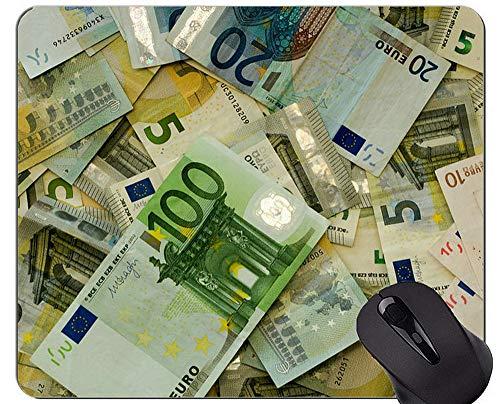 Mausunterlage mit Rastkante, Bargeld, Münzgeld-Gummi-Mausunterlage