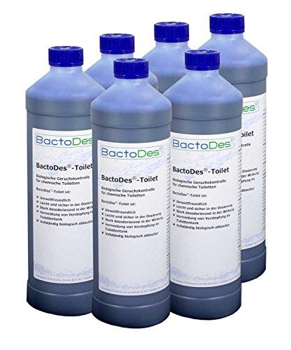 Preisvergleich Produktbild BactoDes-Toilet biologischer Geruchsentferner für Campingtoiletten 6x1Liter Karton
