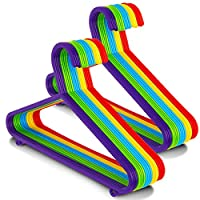 LIVIVO Children Baby Kids Hangers - Pack of 40 - Made From Strong Child-Safe Non-Toxic Plastic with Rounded Edges, 2 Hooks for Extra Storage
