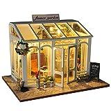 Puppenhaus DIY Dollhouse Kit Licht Modell Kreativ Geburtstag Weihnachts Geschenk mit Licht Musik,...