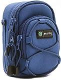 BAXXTAR NUOVO V4 (Taglia L) Borsa Custodia - blu - per fotocamera compatta - Lumix DC TZ200 TZ95 DMC TZ100 TZ90 TZ80 LX15 - PowerShot SX720 SX730 SX740 G5 X II G7 X - Coolpix A A900 A1000 W100