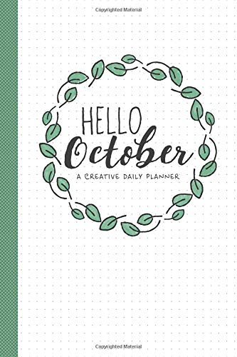 Hello October: A Creative Daily Planner - October 2018 - Monday Start (Womens Cozy Cardigan)