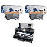 2x Toner + 1x Trommel ersetzt TN2220 DR2200 für Brother DCP-7055 HL-2130 MFC-7360