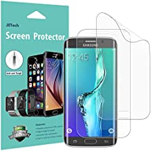 JETech Protector de Pantalla para Samsung Galaxy S6 Edge, Cobertura complete, Ultra Transpanrente, 2 Unidades