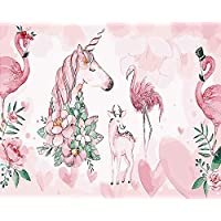 Artshdow Diy Unicorn And Flamingo Pictures Drawing, Home Wall Art Picture Coloring Painting By Numbers, Calligraphy Painting 40X50Cm A002