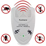 Ruichenxi ® Plug-in für elektronische Schädlingsbekämpfung Eliminator Ultraschall Nager und Insekten Repeller, eine wirksame Kontrolle von Ratten, Mäuse, Kakerlaken, Spinnen, Wanzen, Flöhen, völlig sicher für Mensch, Haus Haustiere und Pflanzen