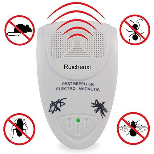 Schädlingsbekämpfung (Ruichenxi ® Plug-in für elektronische Schädlingsbekämpfung Eliminator Ultraschall Nager und Insekten Repeller, eine wirksame Kontrolle von Ratten, Mäuse, Kakerlaken, Spinnen, Wanzen, Flöhen, völlig sicher für Mensch, Haus Haustiere und Pflanzen)