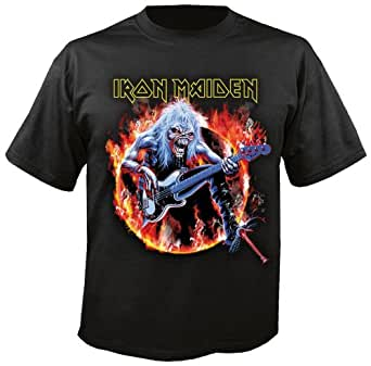 IRON MAIDEN - Fear Live Flame - T-Shirt Gr. L