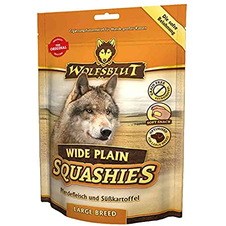 Wolfsblut Squashies Wide Plain Large Breed I 4 x 300g I Soft Snack
