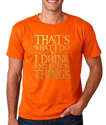 Daataadirect Herren T-Shirt Small Orange