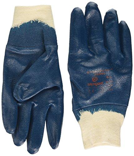 Ansell Nitrotough N250B Gants oléofuges, protection mécanique, Bleu, Taille 9 (Sachet de 12 paires)