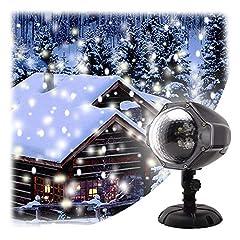 new arrivals c8818 2cc00 Idea Regalo - GAXmi Luce di caduta della neve Natale Nuvole bianche di neve  Luci del