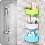 Kihika Bathroom Corner Shelf Shower Holder Mounted Cosmetic Storage Plastic Holder 1 Pieces A Set Strong Stickiness Corner Shelves