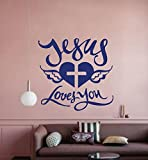 Jesus loves you Wall Sticker (Surface Covering Area -58 x 55 cm)